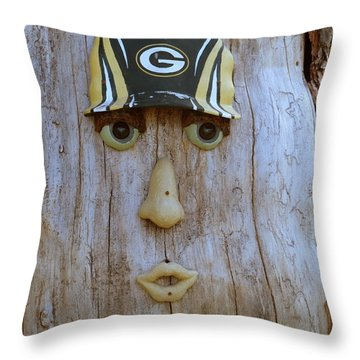 Green Bay Packer Humor Throw Pillow