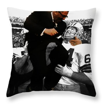Vince Lombardi Green Bay Packers Throw Pillow