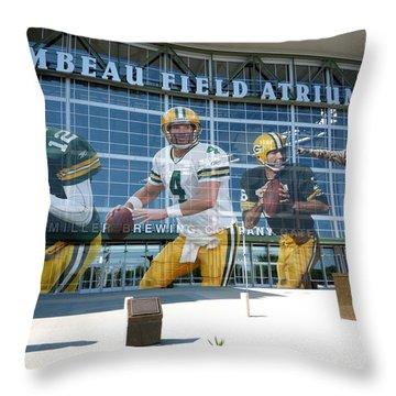 Green Bay Packers Lambeau Field Throw Pillow