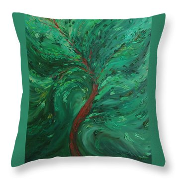 Green Bliss Throw Pillow