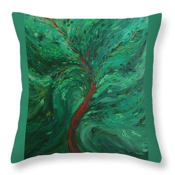 Green Bliss Throw Pillow by Felix Concepcion
