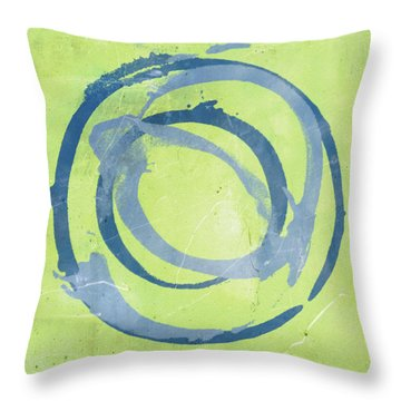 Green Blue Throw Pillow