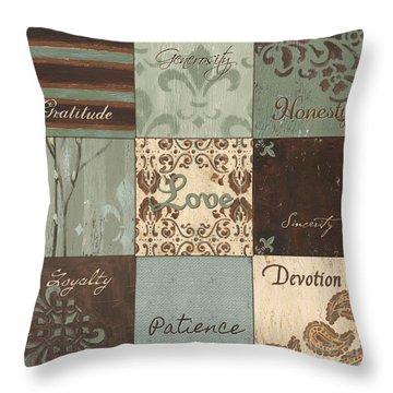 Green Brown Wtlb 1 Throw Pillow