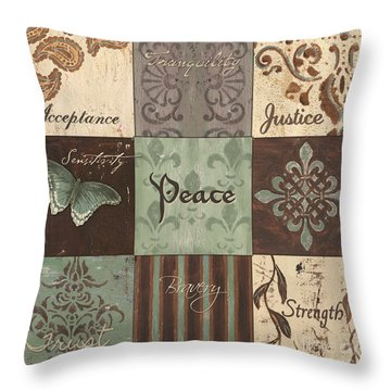 Green Brown Wtlb 2 Throw Pillow
