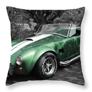 Green Cobra Throw Pillow by Nicholas Burningham