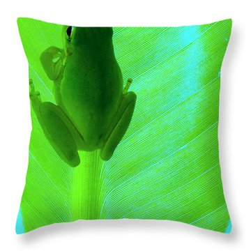 Green Day Throw Pillow by Faith Williams