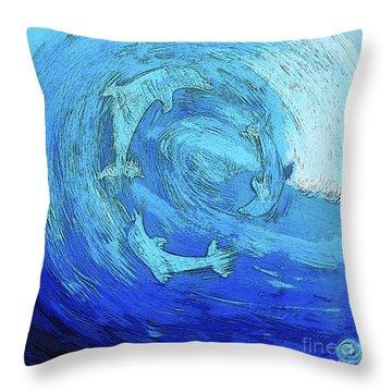 Green Dolphin Street Throw Pillow