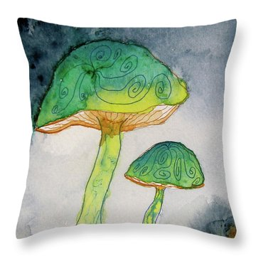 Green Dreams Throw Pillow by Beverley Harper Tinsley