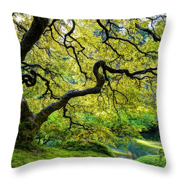 Throw Pillow featuring the photograph Green by Dustin  LeFevre