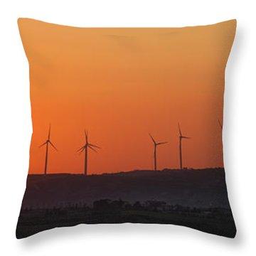 Green Energy Throw Pillow by Stelios Kleanthous