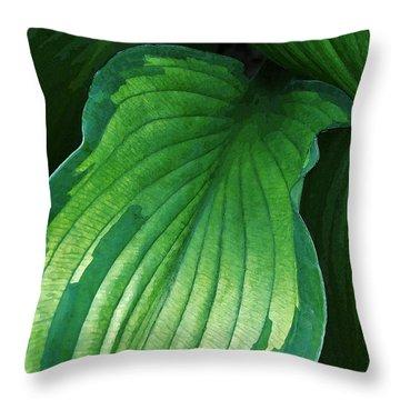 Green Envy Throw Pillow
