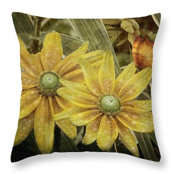 Throw Pillow featuring the photograph Green Eyed Susie by Barbara Orenya