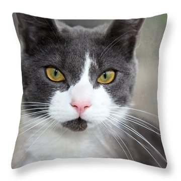 Green Eyes Throw Pillow by Annie Snel