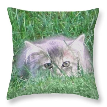 Throw Pillow featuring the photograph Green Eyes by Gena Weiser