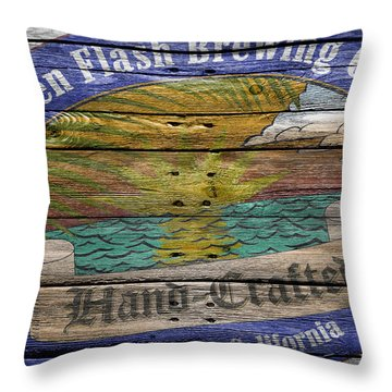 Green Flash Brewing Throw Pillow