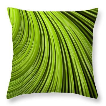 Green Flow Abstract Throw Pillow