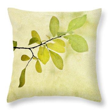 Green Foliage Series Throw Pillow