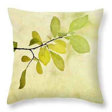 Green Foliage Series Throw Pillow