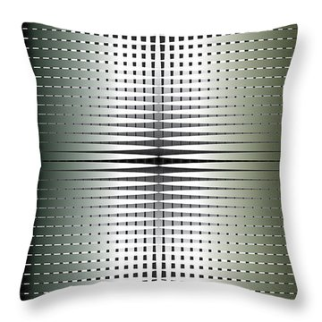Throw Pillow featuring the digital art Green/gold Grid by Kevin McLaughlin