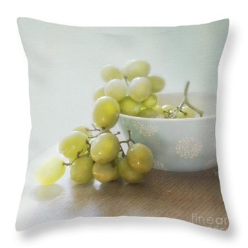 Green Grapes Throw Pillow by Cindy Garber Iverson