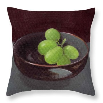 Green Grapes Throw Pillow
