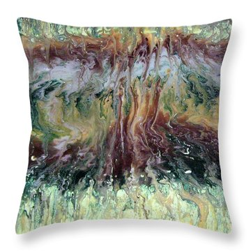 Green Grass And High Tides Throw Pillow