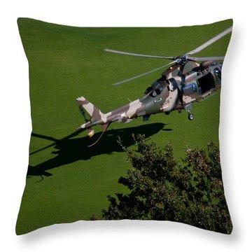Green Grass Landing  Throw Pillow by Paul Job