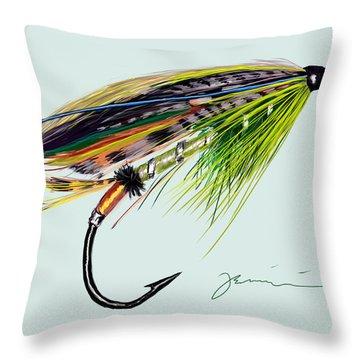 Green Highlander Throw Pillow