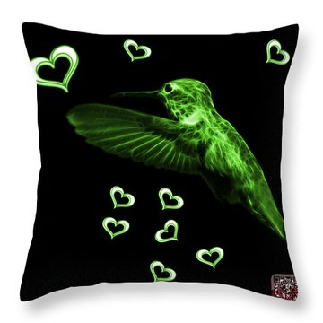 Green Hummingbird - 2055 F Throw Pillow