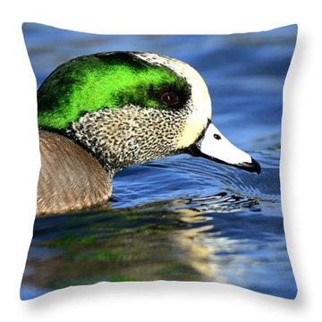 Green Illumination Throw Pillow