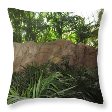 Throw Pillow featuring the photograph Green Interiors Vegas Casinos Resorts Hotels by Navin Joshi
