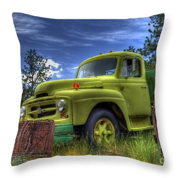 Green International Throw Pillow