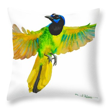 Da175 Green Jay By Daniel Adams Throw Pillow