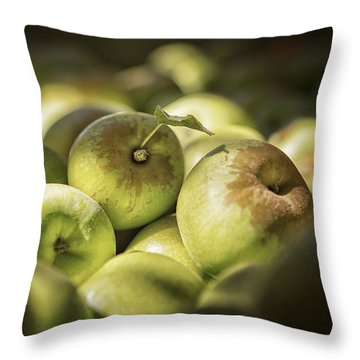 Green Jewels Throw Pillow by Caitlyn  Grasso