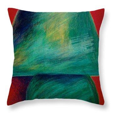 Green Lamp Throw Pillow