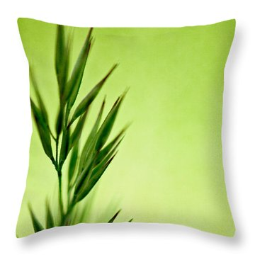 Green Throw Pillow by Lois Bryan