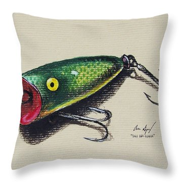 Green Lure Throw Pillow by Aaron Spong
