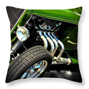 Old Car Throw Pillow featuring the photograph Green Machine  by Aaron Berg