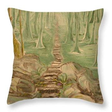 Green Mist Throw Pillow