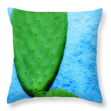 Green On Blue Throw Pillow