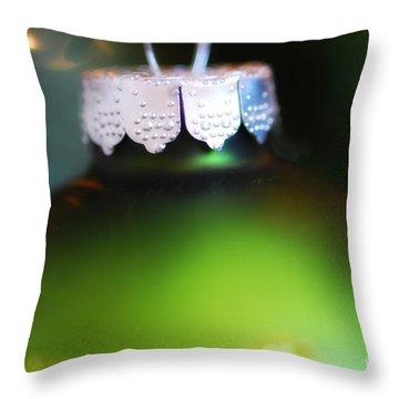 Green Ornament  Throw Pillow by Birgit Tyrrell