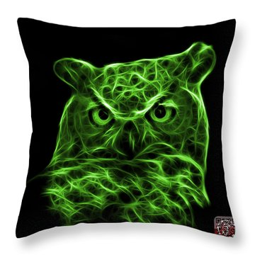 Green Owl 4436 - F M Throw Pillow by James Ahn