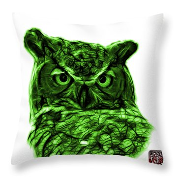 Green Owl 4436 - F S M Throw Pillow