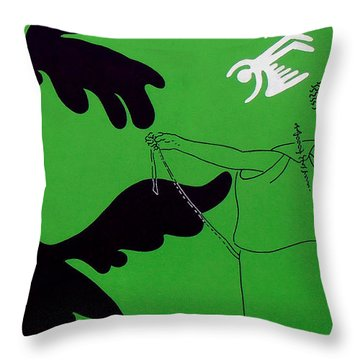 Green Palm Springs Idyll Throw Pillow by Stan  Magnan