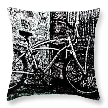 Throw Pillow featuring the painting Green Park Way by Ecinja Art Works