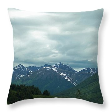 Green Pastures And Mountain Views Throw Pillow by Aimee L Maher Photography and Art Visit ALMGallerydotcom