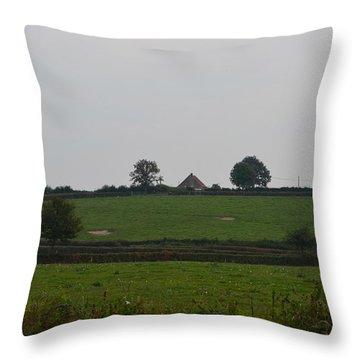 Green Pastures Throw Pillow