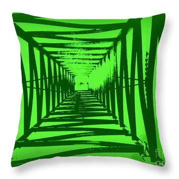 Throw Pillow featuring the photograph Green Perspective by Clare Bevan