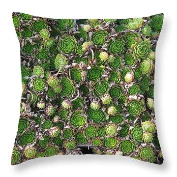 Green Petals Throw Pillow