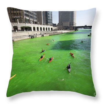 Green River Chicago Throw Pillow by Martin Konopacki